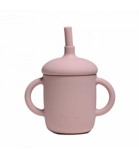 Silicone-made, Sippy cup with a straw, Flamingo, My Chupi