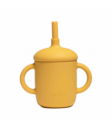 Silicone-made, Sippy cup with a straw, Golden Sun, My Chupi