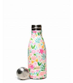 Small Flora Rose metal reusable water bottle