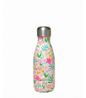 Small Flora Rose Qwetch reusable water bottle