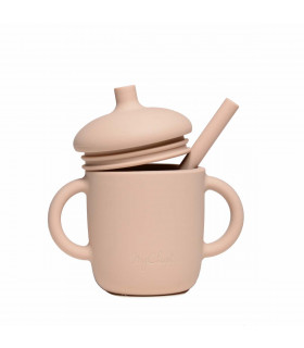 Silicone-made, Sippy cup with a straw, Wheat from My Chupi