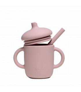 Tasse d'apprentissage bébé, conçue en silicone, Flamingo, My Chupi
