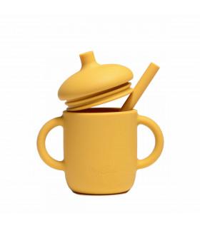 Tasse d'apprentissage bébé, conçue en silicone, Golden Sun, My Chupi
