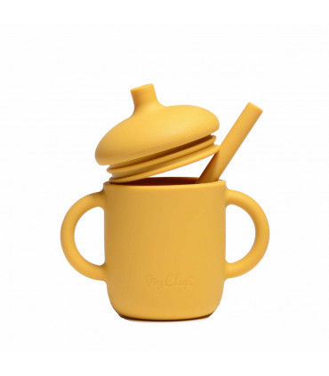 Silicone-made, Sippy cup with a straw, Golden Sun from My Chupi