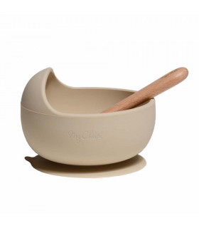 My Chupi, Nude First Weaning Silicone Bowl and Spoon