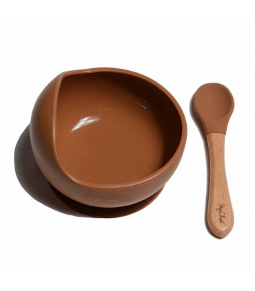 My Chupi, Caramel First Weaning Bowl and Spoon