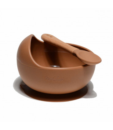 My First Weaning Bowl and Spoon - Caramel, My Chupi