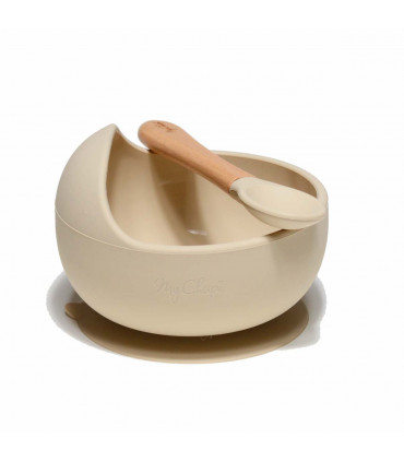 My First Weaning Bowl and Spoon - Nude, My Chupi