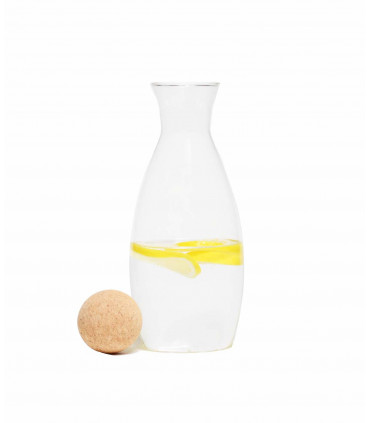 Glass Water or Wine Carafe with Cork Stopper, Mondex