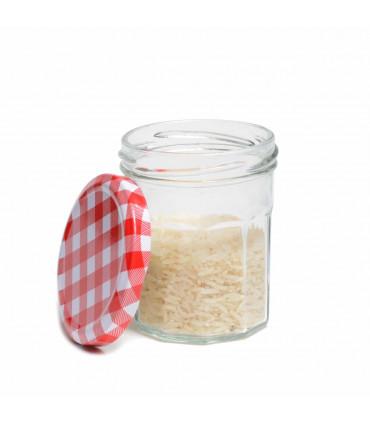 Set of 6 glass jam jars, Mondex