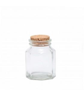Small Hexagonal Jar with Cork Lid, Mondex
