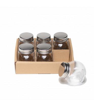 Mini Glass Jar with a Metal Lid - Set of 6, Mondex