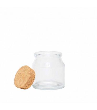 Small Glass Jar with Cork Lid - Mondex