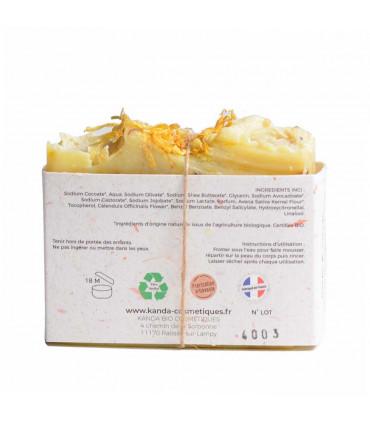 Natural Soap Bar with Calendula - Fragile and Sensitive Skin