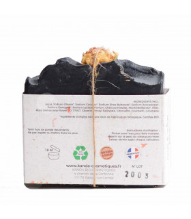 Natural Soap Bar with Vegetable Charcoal - Oily skin, Kanda