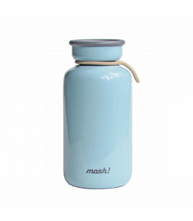 Insulated Bottle 450 ml - Stainless Steel, Blue, Mosh!