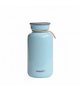Insulated Bottle 330 ml - Stainless Steel, Blue, Mosh!