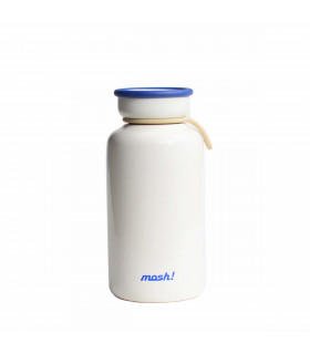 Insulated Bottle 330 ml - Stainless Steel, White
