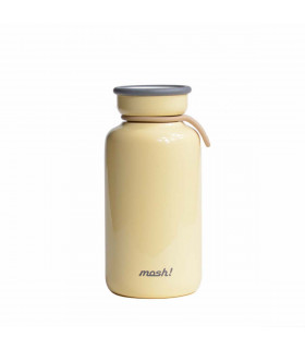 Insulated Bottle 330 ml - Stainless Steel, Ivory, Mosh!