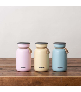 Insulated Bottle 330 ml - Stainless Steel, Pink