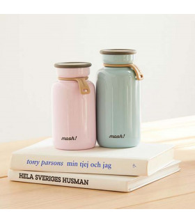 Insulated Bottle 330 ml - Stainless Steel, Blue