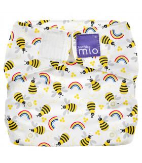 Couche lavable te1 motif abeilles Bambino Mio