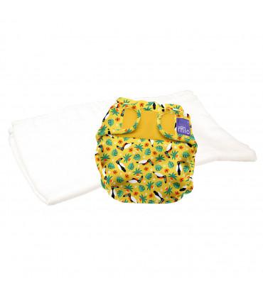 Pack d'essai couche lavable te2 motif tropical toucan Bambino Mio