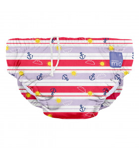 Reusable swim nappy with anchors away pattern