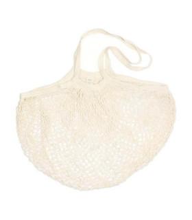 Medium sized organic cotton mesh long handle shopping bag