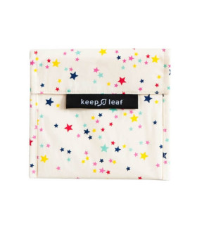 Keepleaf large sandwich baggie with star pattern