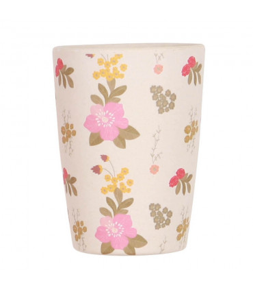 Love Mae floral pattern bamboo tumbler