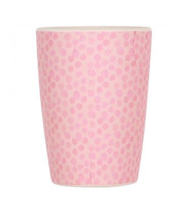 Love Mae pink colored bamboo tumbler