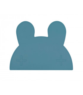 We might be tiny blue dusk silicone bunny kids table set top view
