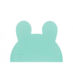 We might be tiny minty green silicone bunny kids table set top view