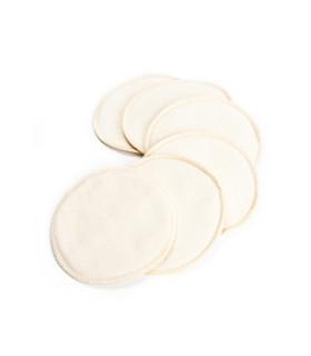 Lot de 6 coussinets d'allaitement lavables en coton bio de Cotonea