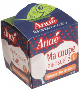 Menstrual cup large size anaé packaging