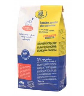 Kraft bag of organic and vegan washing powder