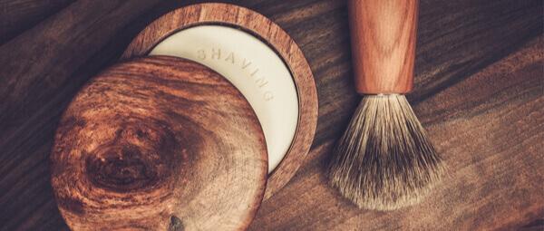 Blaireaux de Rasage naturel et savon de rasage Bio