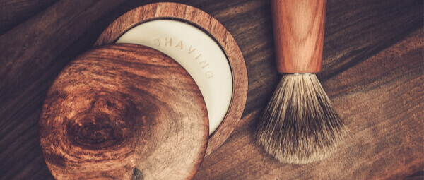 Shaving soap bar & shaving brush