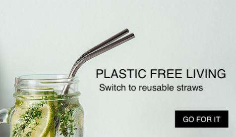 reusable straws, bamboo straws, stainless steel straws, large stainless steel straw